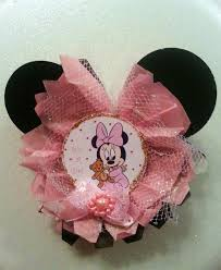 Baby Minnie Mouse Baby Shower Theme by Baby Shower Theme Guest Pins Adrianas Creations
