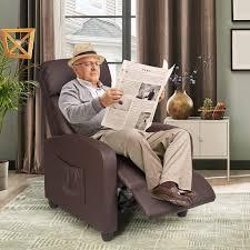 costway relaxsessel mit verstellbaren rückenlehne real de