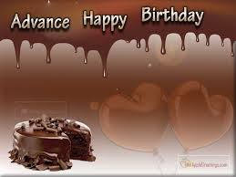 Yummy Chocolate Cake With Happy Birthday Wishes In Advance For Whatsapp Friends