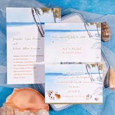 Elegant Beach Theme Wedding Invitations Ideas Themed Invitation Kits