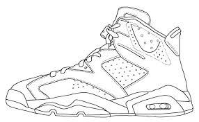 Jordan Shoe Colouring Pages