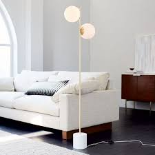 Overarching Floor Lamp Brass by Sphere Stem Floor Lamp From West Elm Beautiful Staggered Globe