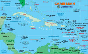 Caribbean Map Of The
