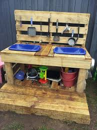 Recycled Pallet Mud Kitchen Plans Ideas