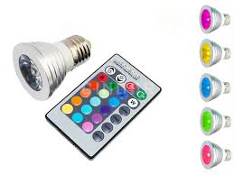 multi color e27 led light bulb with remote with 16 different