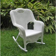Resin Wicker Indoor/Outdoor Rocker, White Resin Wicker Porch Rockers Easy Care Rocker Charleston Rocking Chair Camel Back Chairs Set Of Two White Summer Outdoor Belwood With Floral Cushions 3pc Cushion And End Table Faux Book Pocket Coral Coast With Khaki The Portside Plantation All Weather Tortuga
