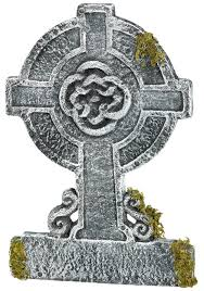 Funny Halloween Tombstones For Sale by Mossy Celtic Cross Tombstone