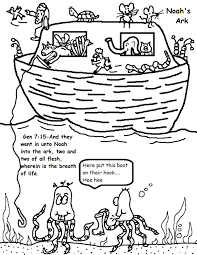Noahs Ark Free Printable Coloring Sheet For Kids With Handwriting