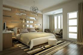 BedroomSimple Modern Bedroom Decor With Natural Wall Art And Chandelier Stylish