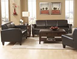 Bobs Furniture Living Room Sofas by 9915pu Allen Sofa In Dark Chocolate Leather By Homelegance