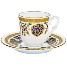 Turkish Coffee Cup With Saucer Porcelain
