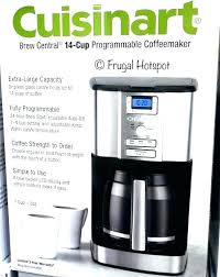 Cup Programmable Coffee Maker Glass Carafe With Stainless Steel Handle Cuisinart Perfectemp Dcc 3200 Cp 14