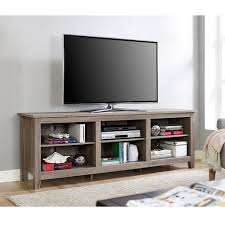 Walker Edison 3 Piece Contemporary Desk Manual wood tv stand for tvs up to 70