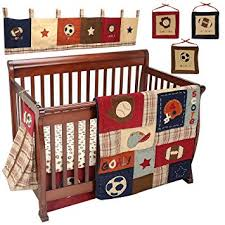 amazon com nojo my little mvp 9 piece crib bedding set