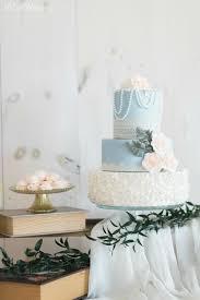 Rose Quartz And Serenity Wedding Cake Soft Rustic Blue Pink Sugar Flower