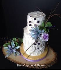I Like The Twigs Rustic Buttercream With Succulents And Berries Wedding Cake