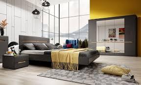 schlafzimmer set 4 teilig 70250378 grau front mdf hochglanz fichte liegefläche wählbar