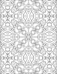 Free Adult Coloring Page Abstract Pattern