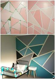 Painting Ideas And Techniques Diy Patterned Wall Picture Download
