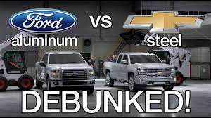 100 Aluminum Ford Truck Debunking Chevy Silverado Vs F150 Test Commercials