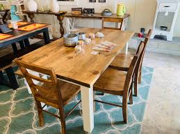 Rustic Farmhouse Table Set With Bench And Chairs, White Base And ... Windsor Ding Chair Fly By Night Northampton Ma Antique Early American Carved Wood With Sabre Legs Desk Side Accent Vanity 76 Astonishing Gallery Of Maple Chairs Best Solid Mahogany Shield Back Set Handmade Shaker Farm Table 72 By David S Edgerly Customer Fniture Edna Winchester Countryside Amish 19c Cherry Extendable Rockwell How To Choose For Your Custom Ochre Forcloth Forcloths Custmadecom Country Farmhouse Room Amazoncom Hardwood Xback Of 2