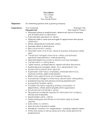 Awesome Collection Of Receptionist Resume Objectives Fabulous New Objective