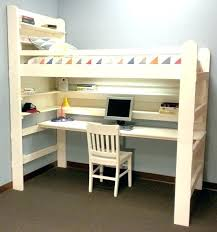 Double Bunk With Desk All In e Loft Beds Loft Bunk Bed And Desk