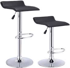 set of 2 pub dining bar stools swivel chair adjustable seat