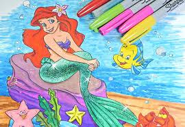Princess Ariel Coloring Book Disney Pages For Kids