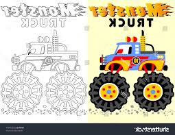 100 Monster Truck Coloring Book Unique Stock Vector Cartoon Of Or Page