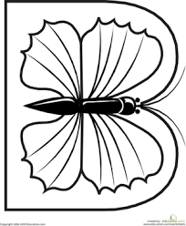 Color The Butterfly Letter B