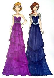 Prom Dress Sketches Fashion Dresses