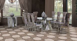 Lucci Dining Room Suite Stainless Steel