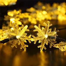 20 LED Snowflake Battery Opetated String Fairy Waterproof Lights Christmas For Garden Yard