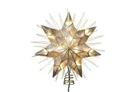 Best Oversize Star Christmas Tree Topper Kurt Adler 14 7 Point Natural Capiz Lighted Treetop