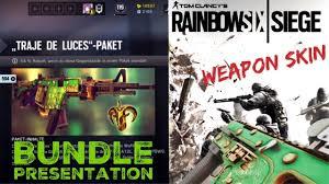 siege de traje de luces weapon skin unboxing and presentation rainbow