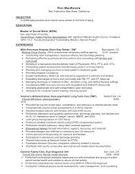 Sample Cover Letter Social Work Mental Health