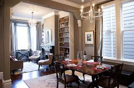 Urban Rustic Decor Dining Room Traditional With Armchair Bookcase Chair Chandelier Image By Architect Mason Kirby Inc