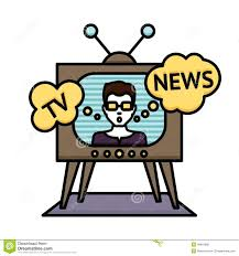 Tv News Poster Stock Vector Illustration Of