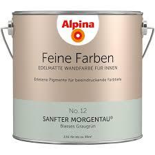 alpina feine farben no 12 sanfter morgentau edelmatt 2 5 liter