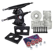 100 Parts Of A Skateboard Truck Cal 7 Longboard Combo Package With 70mm Wheels 180mm
