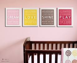 Typography Art Prints For Kids Playroom Wall Inspiration Quote Children SET OF ANY 4 Decor By Wallfry