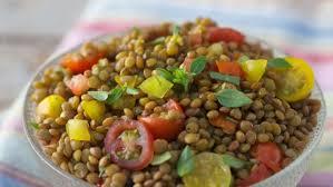 cuisine lentille salade de lentilles facile et pas cher recette sur cuisine actuelle