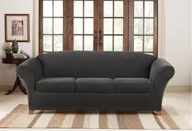 sure fit stretch piqué 3 seat individual cushion sofa covers
