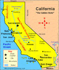 California State Map Printable Of For Kids