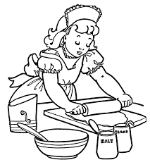 Printable Kitchen Coloring Page To Print Large Size