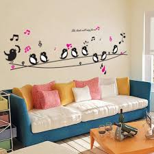 Diy Wall Decor For Bedroom Aliexpress Buy 1 Get Minion Birds Singing Music Pictures