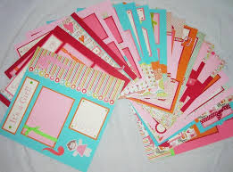 20 BABY GIRL Scrapbook Pages For 12x12 FiRsT YeAr ALbUm Bright Happy Colorful