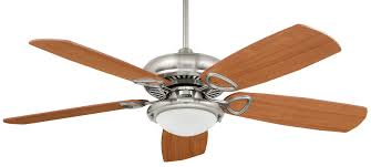 Brushed Nickel Ceiling Fan With Gray Blades by Marquis Unipack