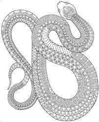 Zanimals Snake Coloring Page
